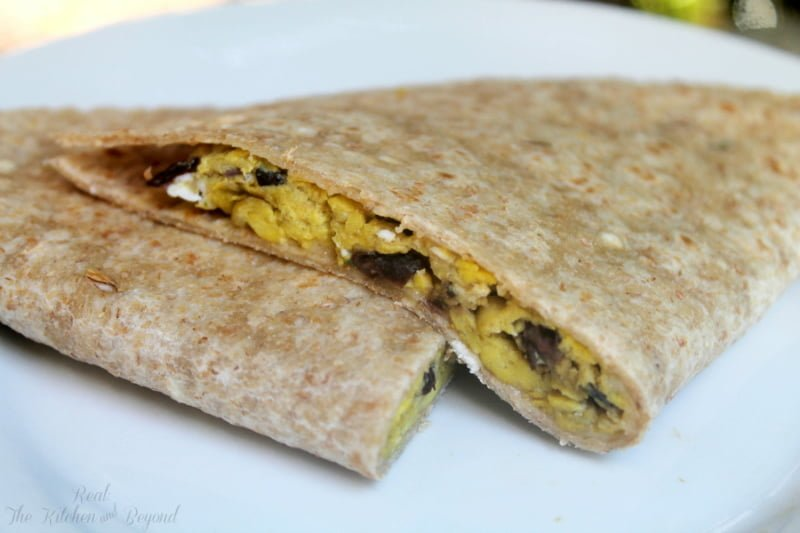 Easy Breakfast Recipe - Egg and Black Bean Quesadilla - Real: The Kitchen and Beyond