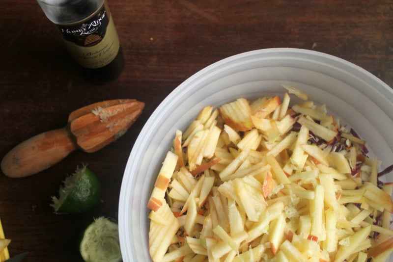Easy Coleslaw Recipe - Honey Lime Coleslaw Step 3 - Real: The Kitchen and Beyond