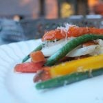 Healthy Grilling: Parmesan Sweet Potato Fries and Mixed Vegetables