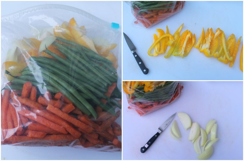 Healthy Grilling Recipe - Sweet Potato Fries and Mixed Veggie Steps - Real: The Kitchen and Beyond