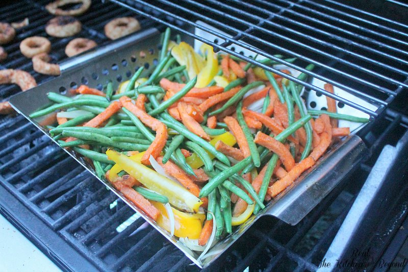 Healthy Grilling Recipe - Sweet Potato Fries and Mixed Veggies - Real: The Kitchen and Beyond