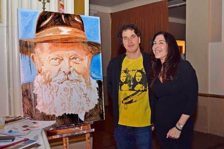 Artist Perry Milou and Liz Shapiro