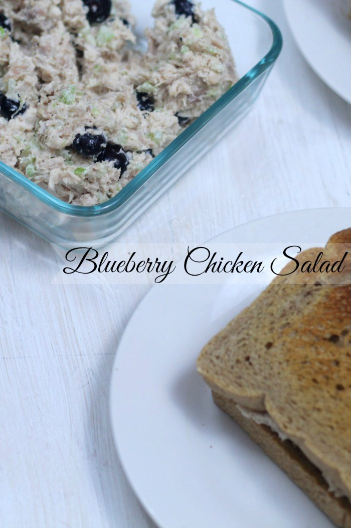An Easy Blueberry Chicken Salad Recipe that is bursting with flavor and seasonal berries- Real: The Kitchen and Beyond