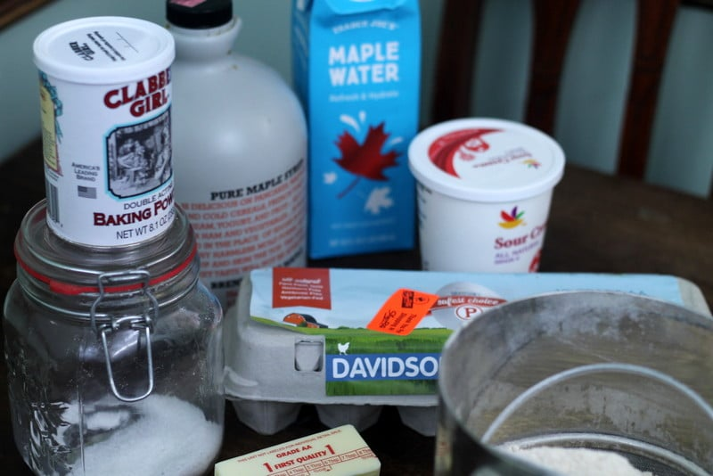 Maple Sour Cream Muffin Ingredients