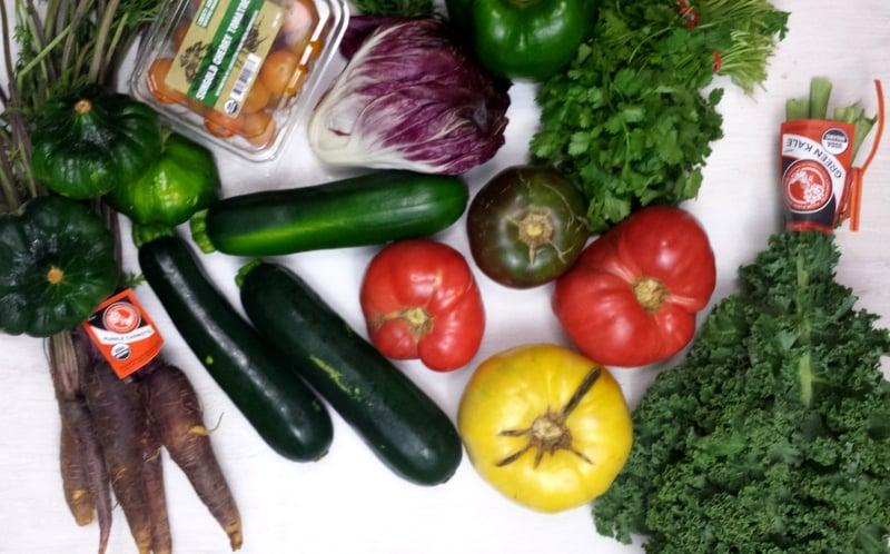 Whole Foods CSA Week 5 Veggies - www.realthekitchenandbeyond.com