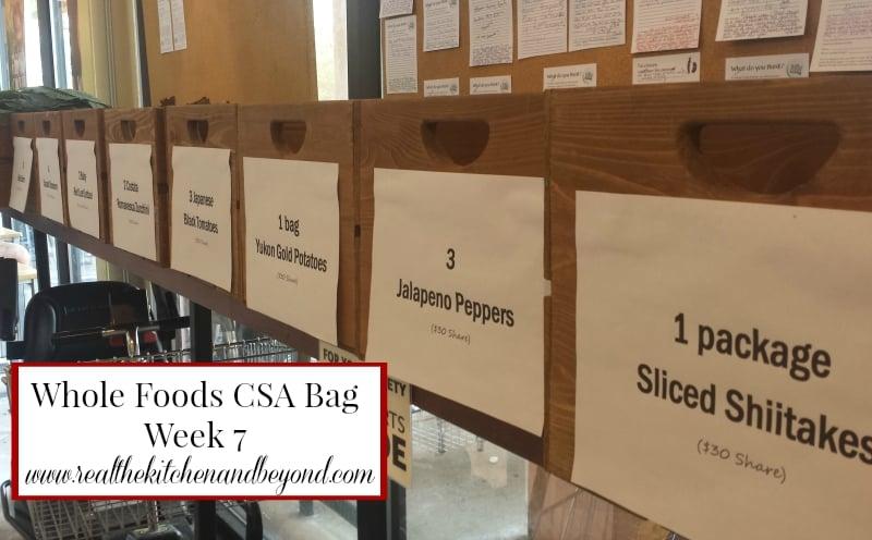 Whole Foods CSA week 7