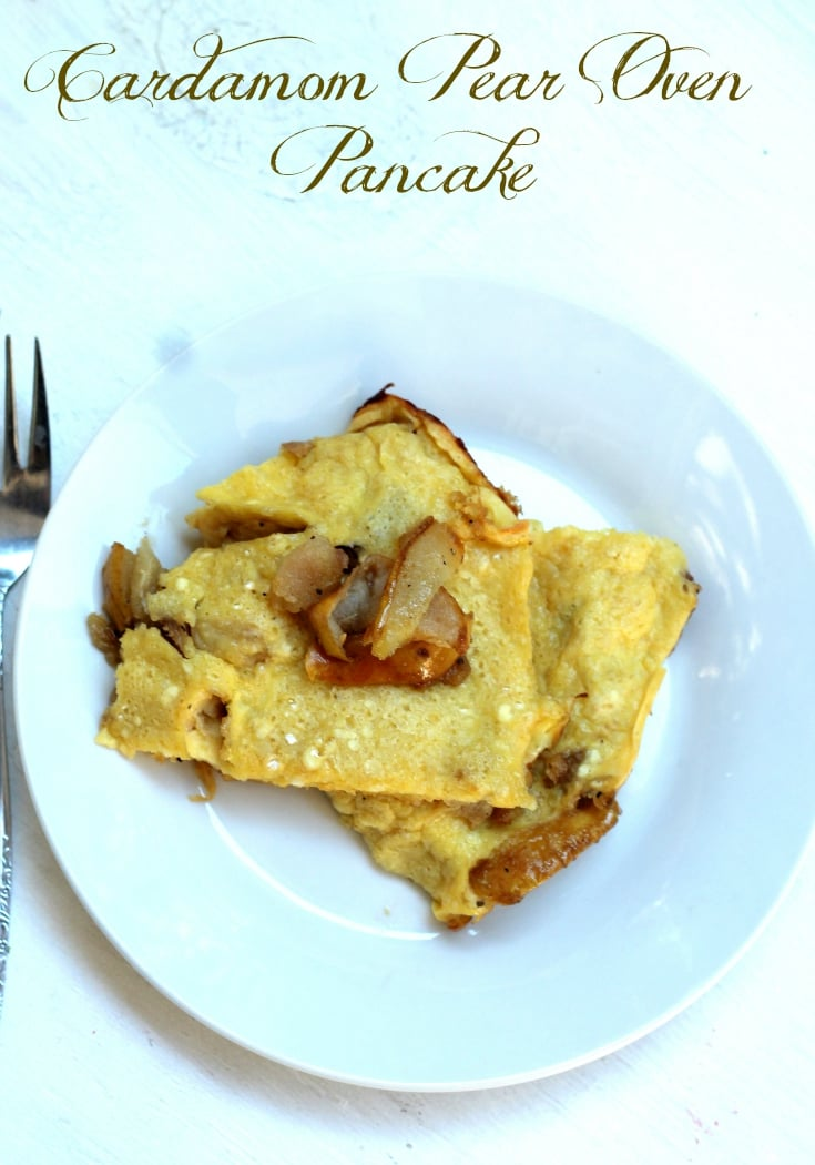 Cardamom Pear Oven Pancake Recipe for Easy Breakfasts