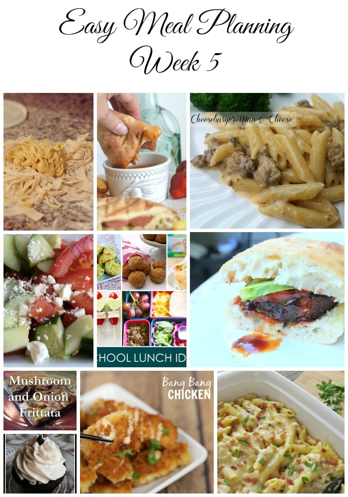 Easy Meal Planning Meal Plan 5