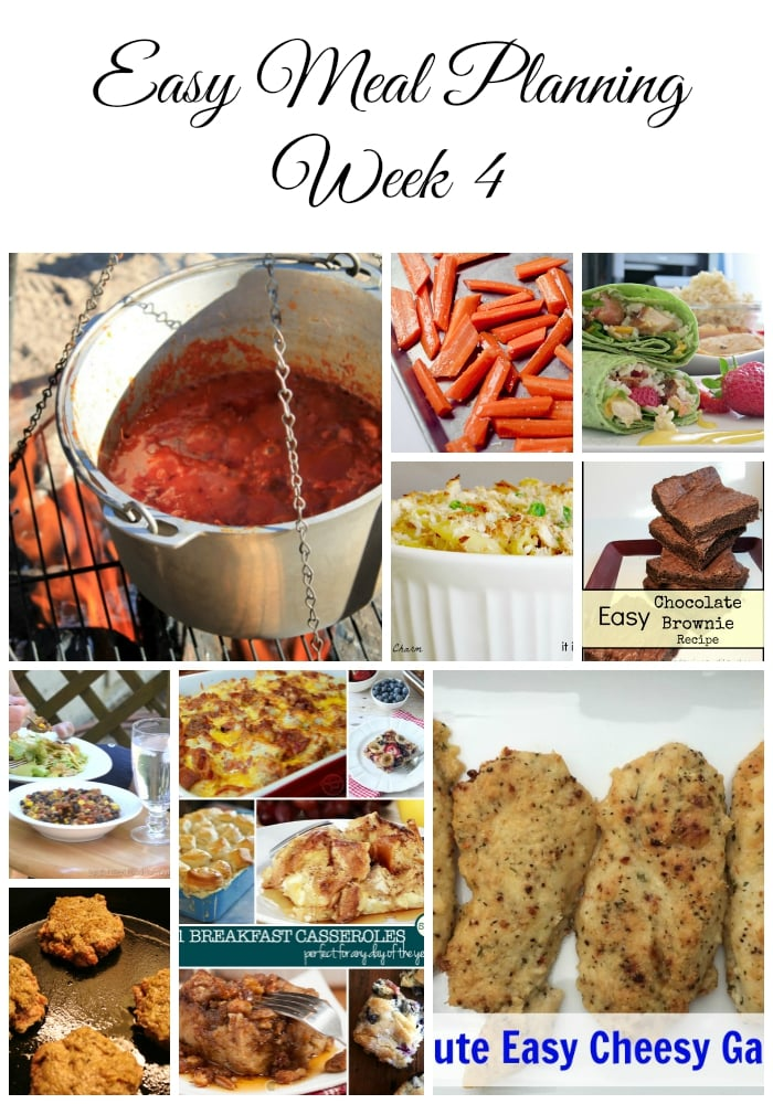Easy Meal Planning Week 4