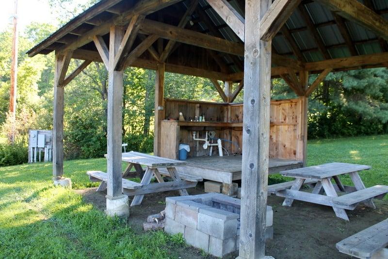 Four Springs Farm Campground Kitchen Area