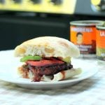 Jalapeño Queso Chorizo Burger with Sweet and Spicy Chipotle BBQ Sauce