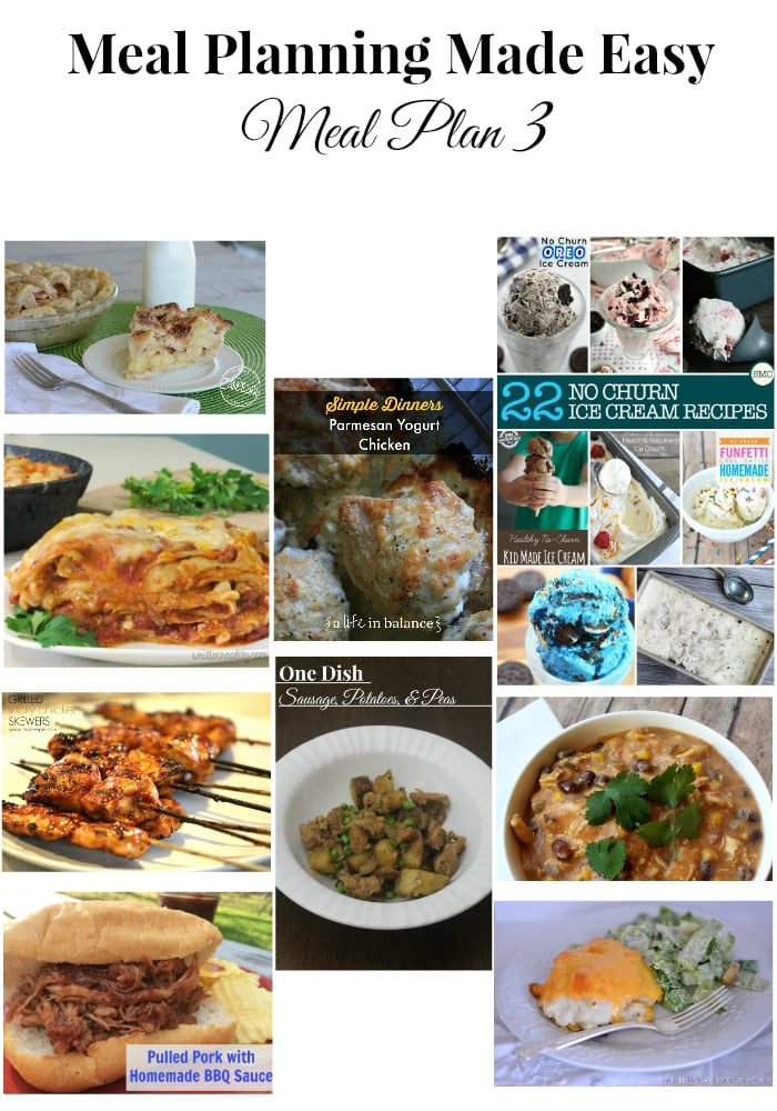Meal Planning Made Easy Meal Plan 3