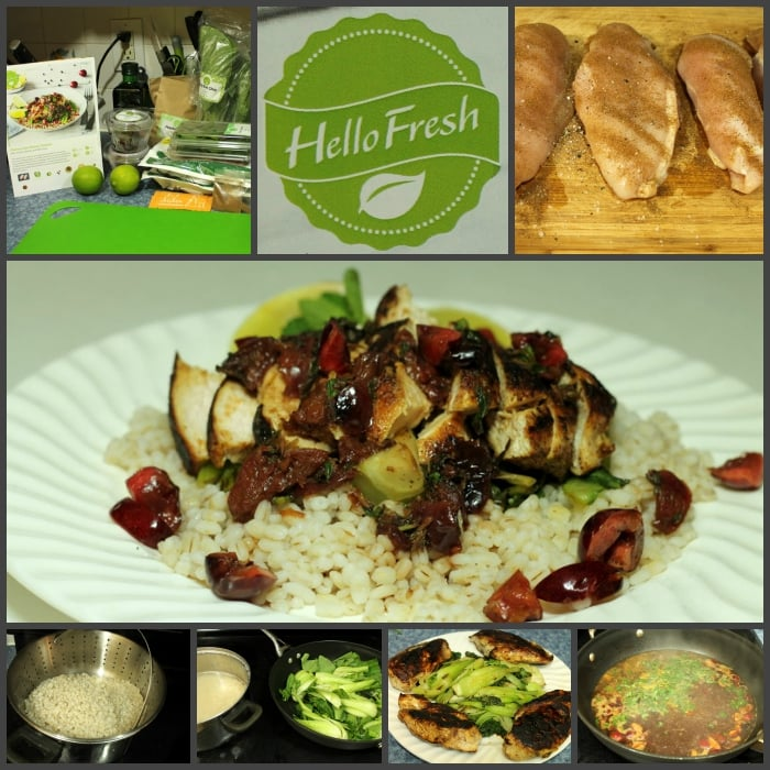 Hello Fresh Cherry-Lime Rickey Chicken Collage