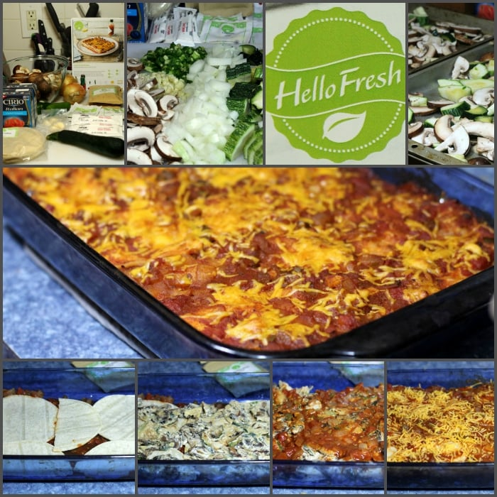 HelloFresh Layered Enchilada Collage