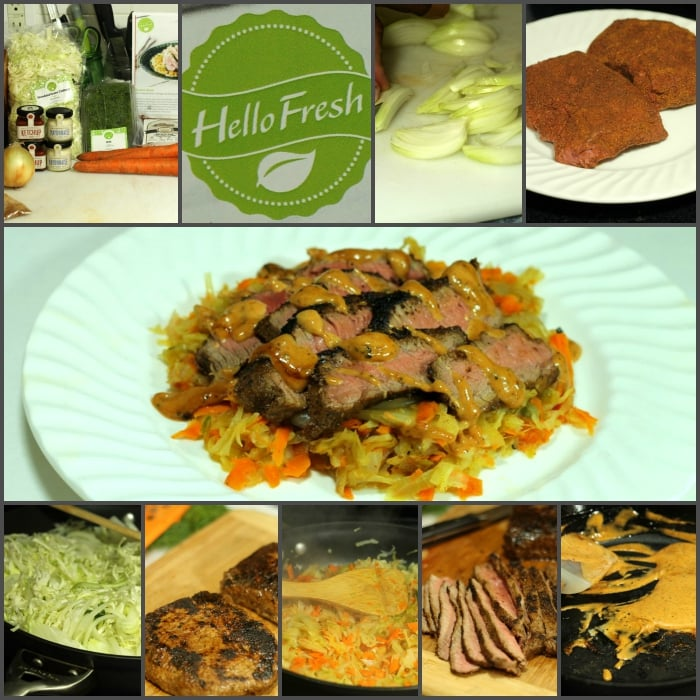 HelloFresh Reuben Steak Collage