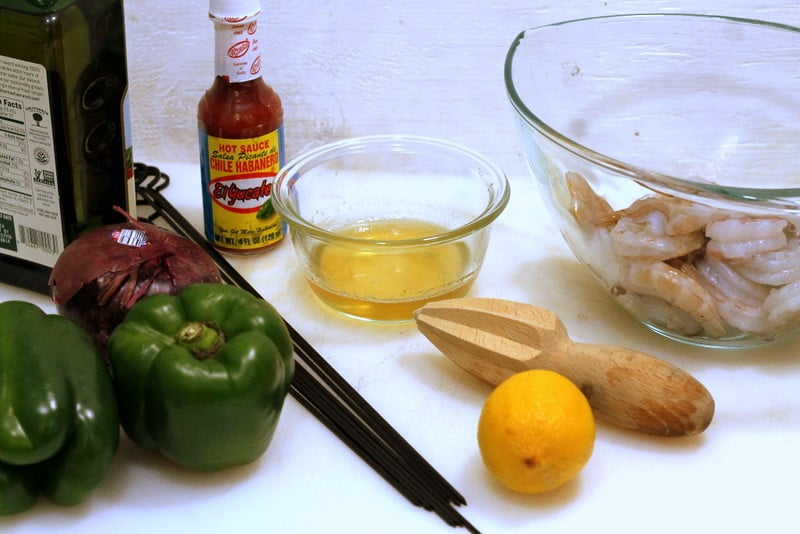 Sweet and Spicy Shrimp Ingredients