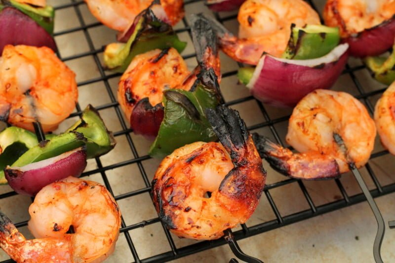 Sweet and Spicy Shrimp Kabob Recipe - www.ealthekitchenandbeyond.com