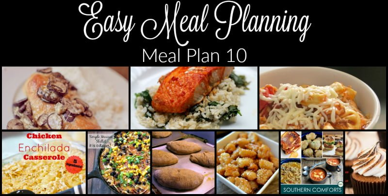 Easy Meal Planning Meal Plan 10 Wide