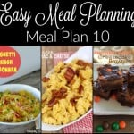 Meal Planning Made Easy: Meal Plan 10