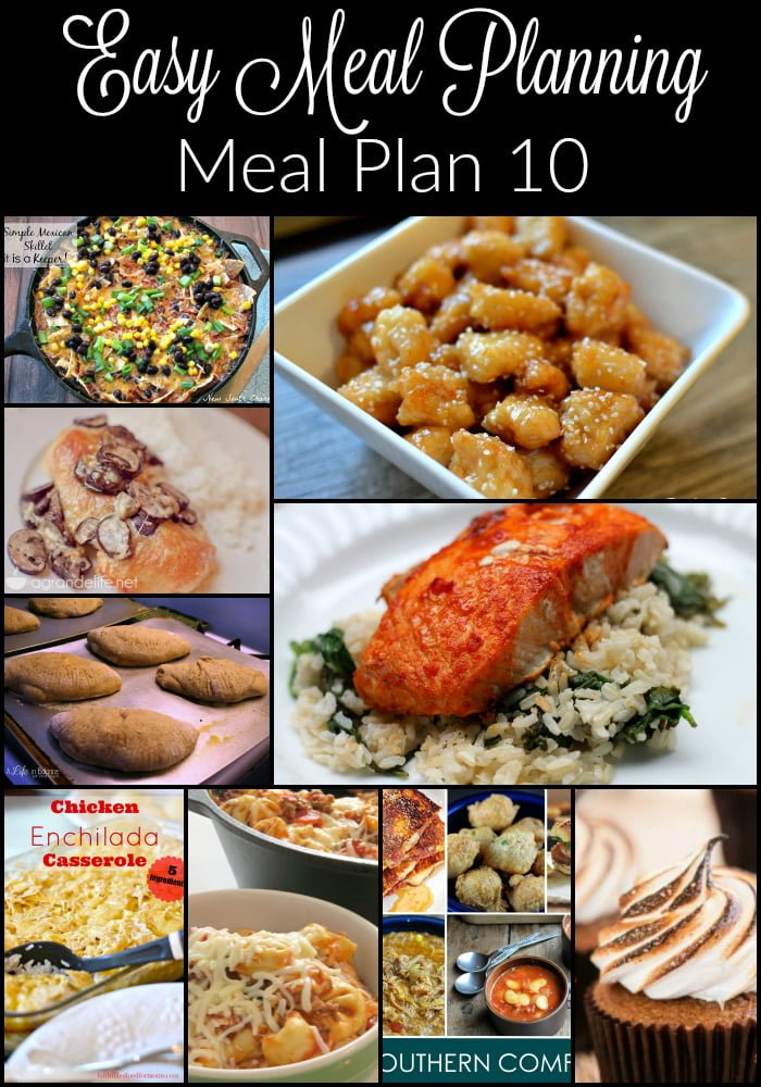 Easy Meal Planning Meal Plan 10