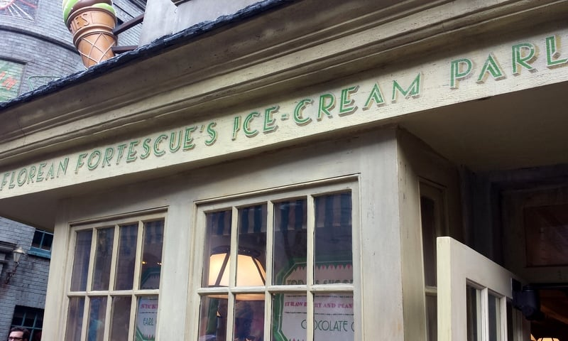 Florean Fortescue's Ice Cream Parlor Diagon Alley Universal Studios