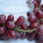Kid Friendly Snacks: Grapes with Honey Vanilla Yogurt Dip