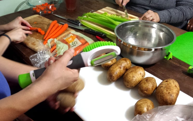 Meal Prepping Party with Kitchen IQ Potato Tool