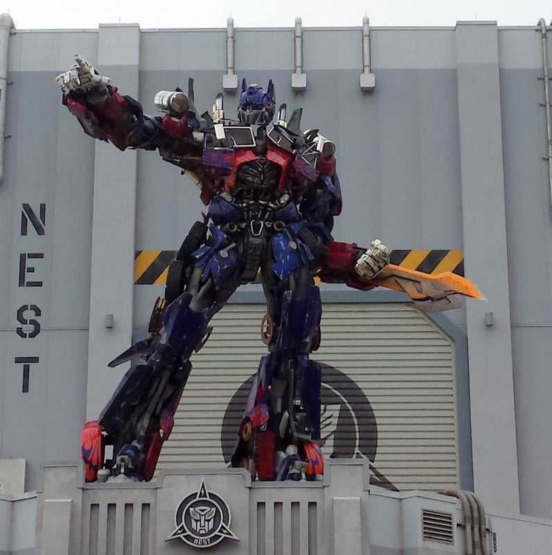 Transformer's 3D Simulated Ride Universal Studios Orlando