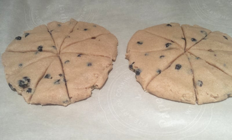 Whole Wheat Blueberry Scones sliced