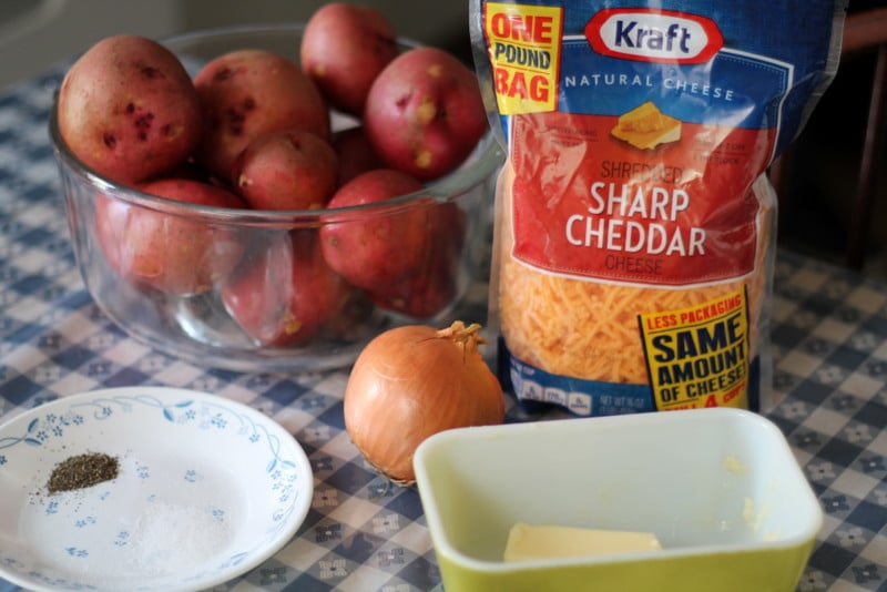 Easy Cheesy Scalloped Potatoes Recipe Ingredients