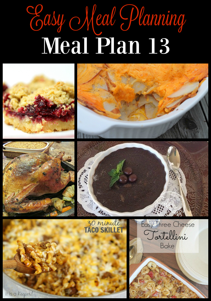 make meal planning easy with our 13th easy meal plan