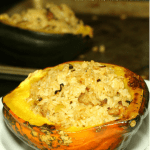 Rice Stuffed Acorn Squash Recipe in 60 minutes - seasonal, local, fresh in 60 minutes