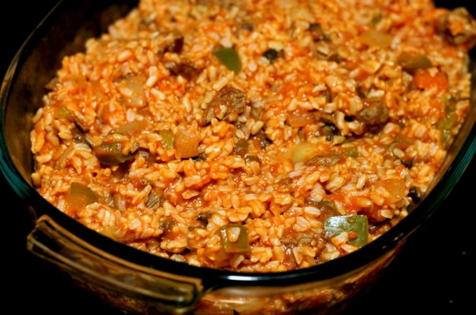 Easy Tomato, Beef, and Rice