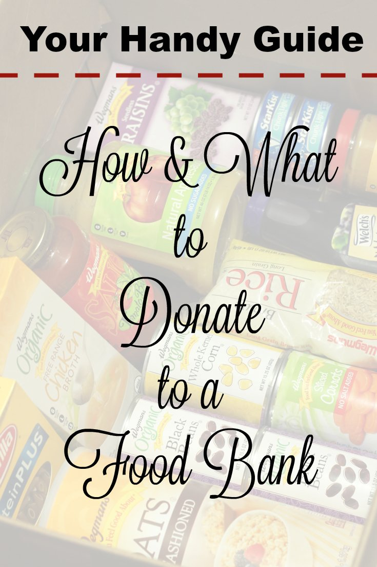 our handy guide to how and what healthy food items to donate to your food bank