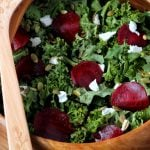 Beet and Goat's Cheese Kale Salad