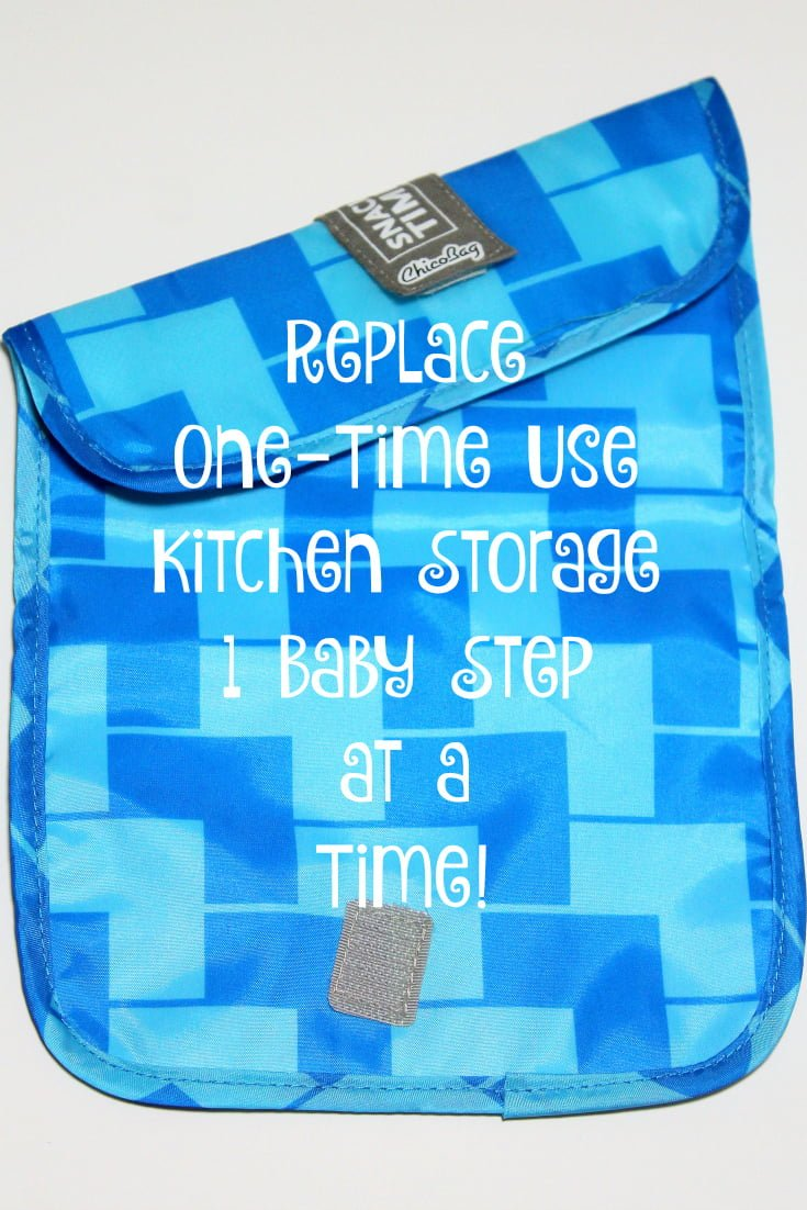Reusable snack bags are a great way to declutter oyur kitchen and be more sustainable. They also are money saving over time.
