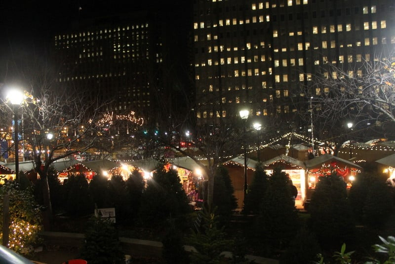 Christmas Village LOVE Park Philadelphia