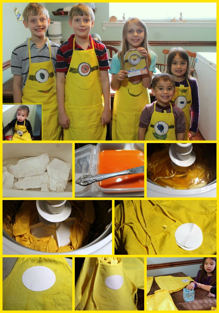 How to Make DIY Minions Aprons
