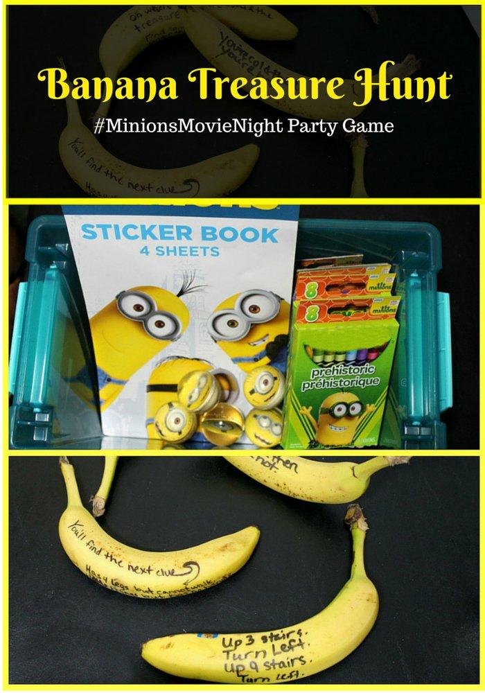 #MinionsMovieNight Banana Treasure Hunt Party Game