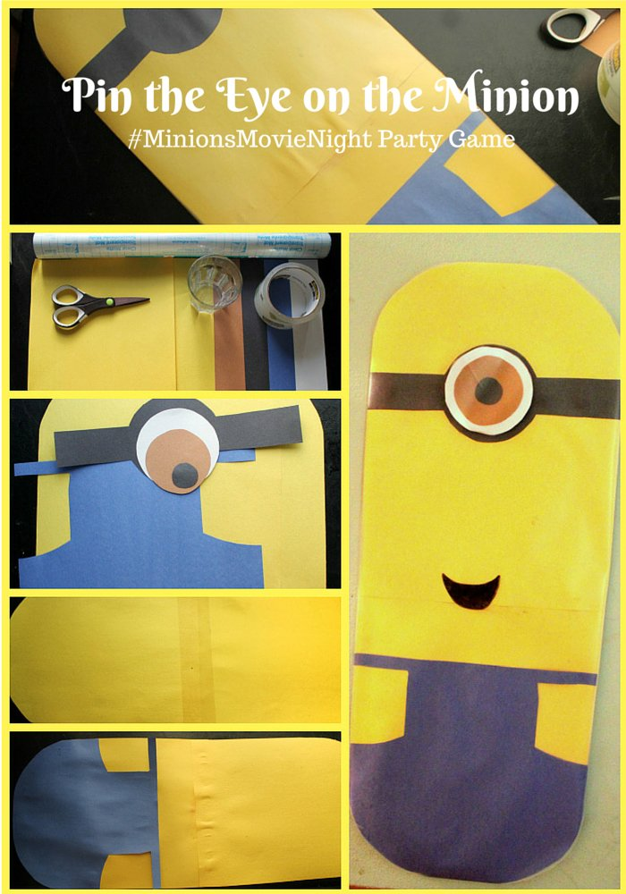 #MinionsMovieNight Pin the Eye on the Minion Party Game