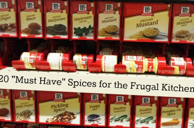 "20 ""Must Have"" Spices Every Frugal Kitchen Needs"