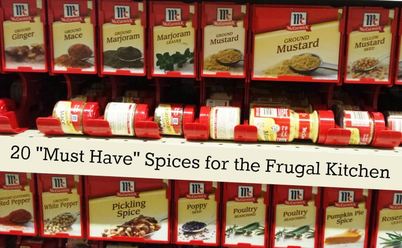 20 must have spices for every frugal kitchen