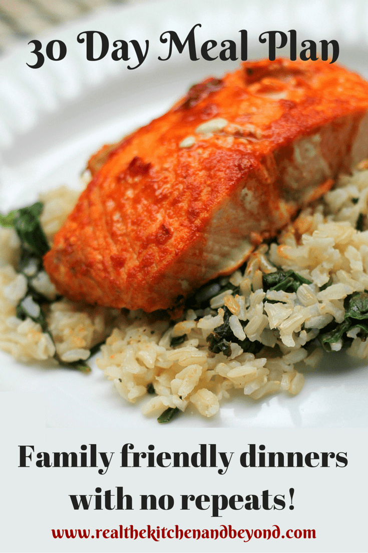 30 Day Meal Plan - meal planning made easy with family friendly meals