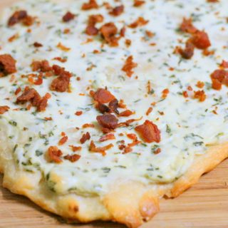 Bacon and Chive Flatbread 1