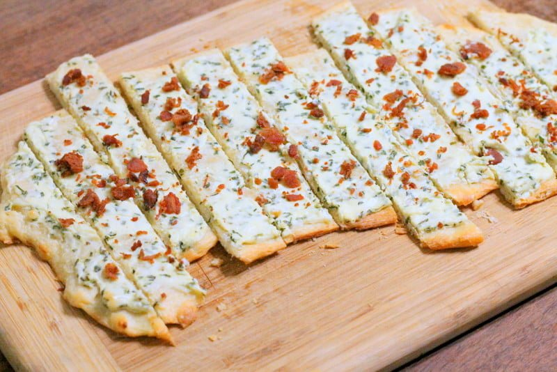 Bacon and Chive Flatbread Appetizer