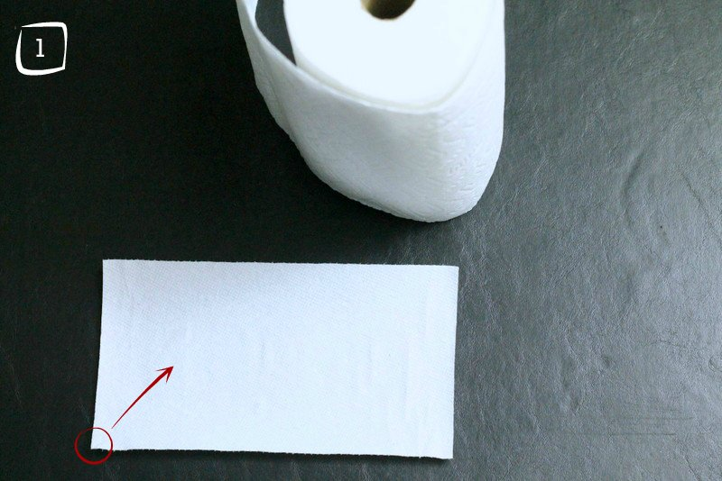 DIY Napkin Hack Step A