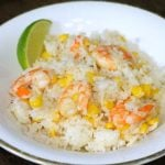 Lime Shrimp, Corn, and Rice Skillet