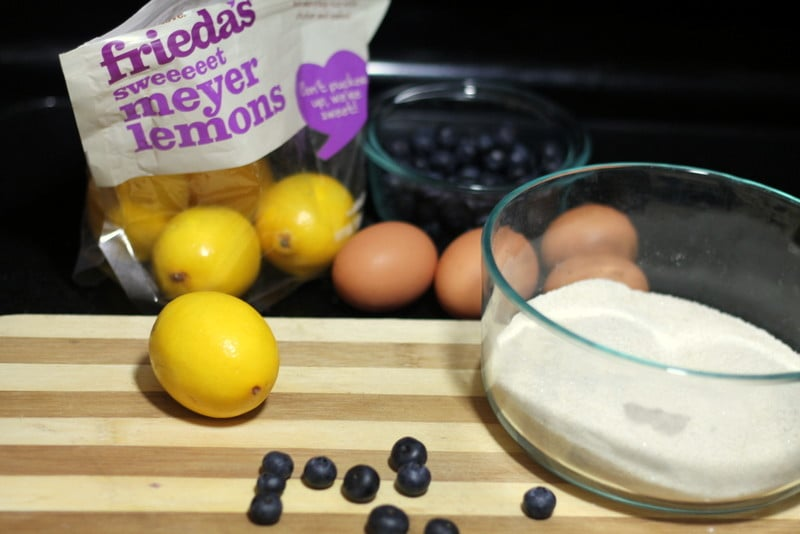 Meyer Lemon Blueberry Bars Ingredients
