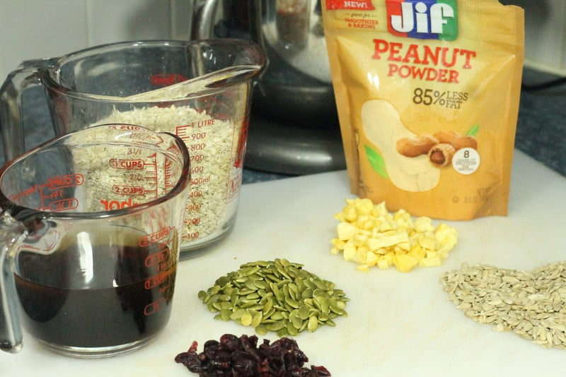 Peanut Butter Granola Bar Recipe Ingredients