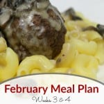 Monthly Meal Plan, February